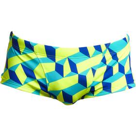 Funky Trunks Classic Trunks Men, blu/giallo